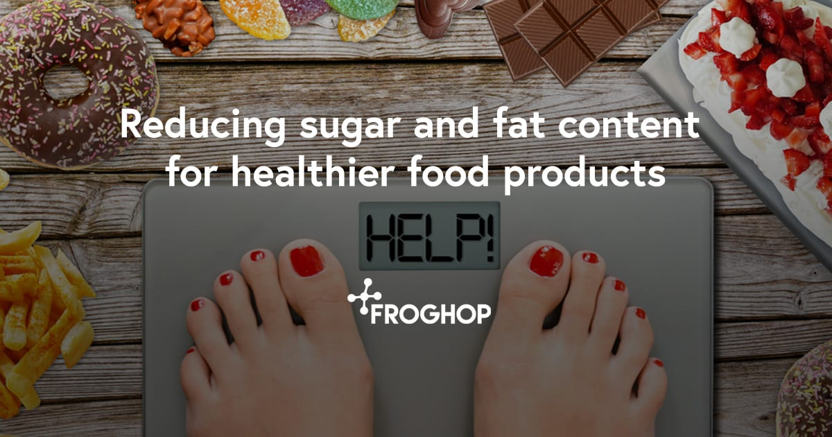 Reducing sugar and fat in food products