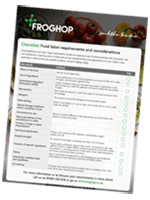 Download our food product labelling requirements checklist