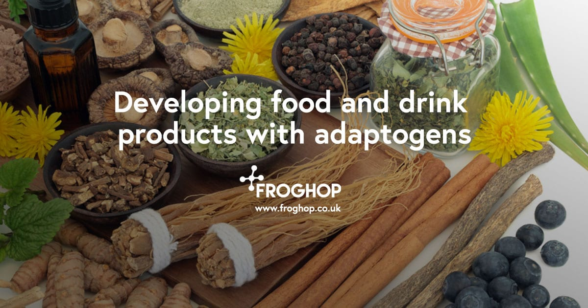 Developing food and drink products with adaptogens