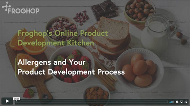 Video - allergens and food product development