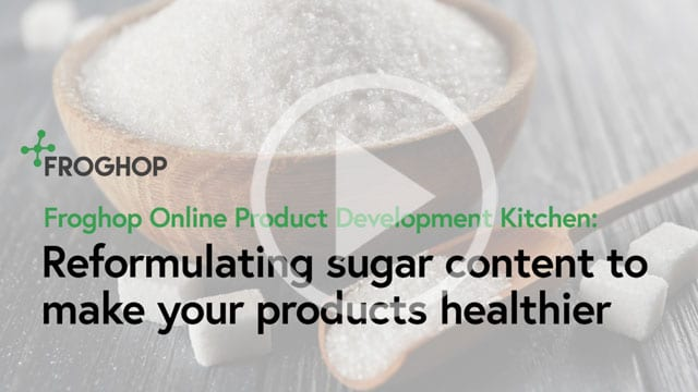 Reformulating sugar content for healthier products