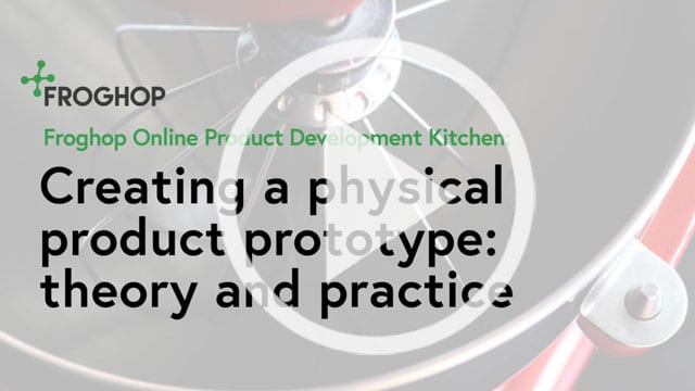 Creating a physical food product prototype