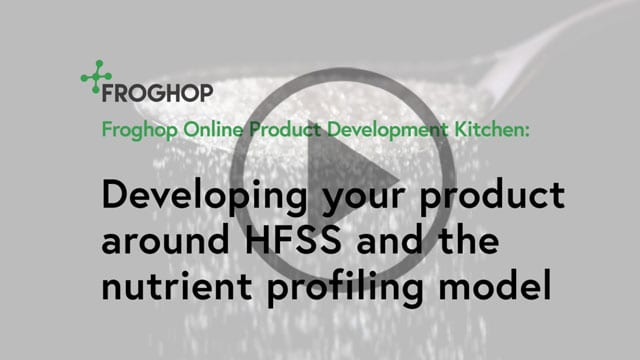 Developing around HFSS and the nutrient profiling model